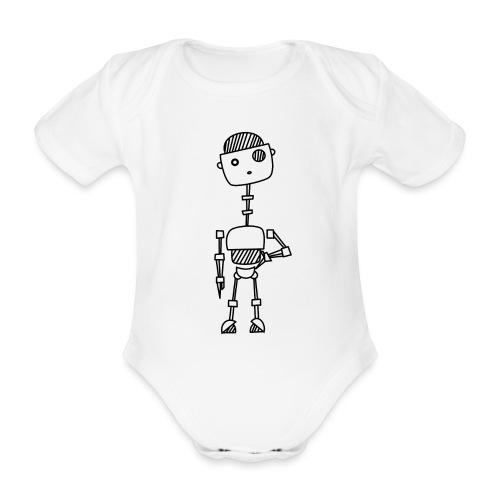 robot 001 02 - Baby bio-rompertje met korte mouwen