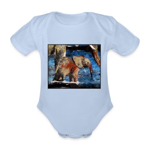 Baby-Elefant - Baby Bio-Kurzarm-Body