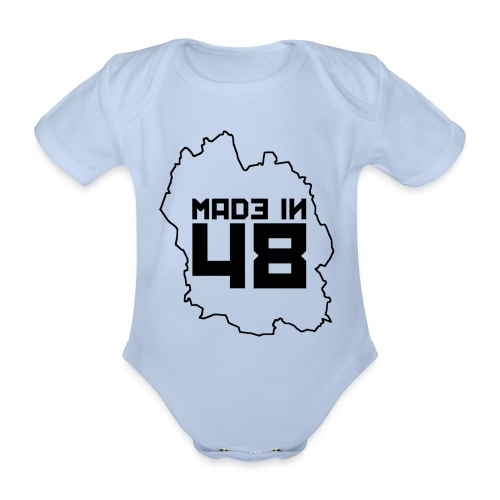 made in 48 1 noir png - Body Bébé bio manches courtes