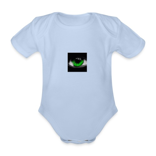 Green eye - Organic Short-sleeved Baby Bodysuit
