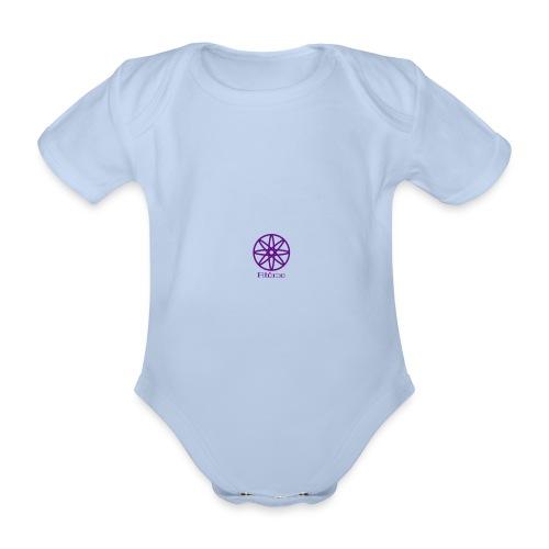 La boule d'atôme violet - Baby Bio-Kurzarm-Body