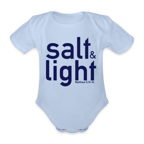 Salt & Light - Matthew 5: 13-14 - Organic Short-sleeved Baby Bodysuit