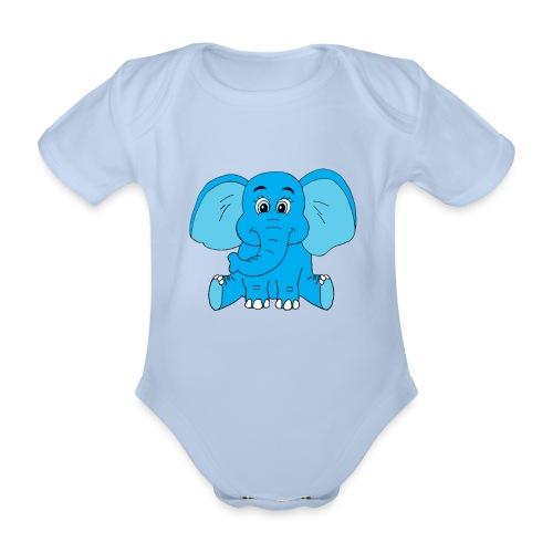 Baby Elefant - Baby Bio-Kurzarm-Body