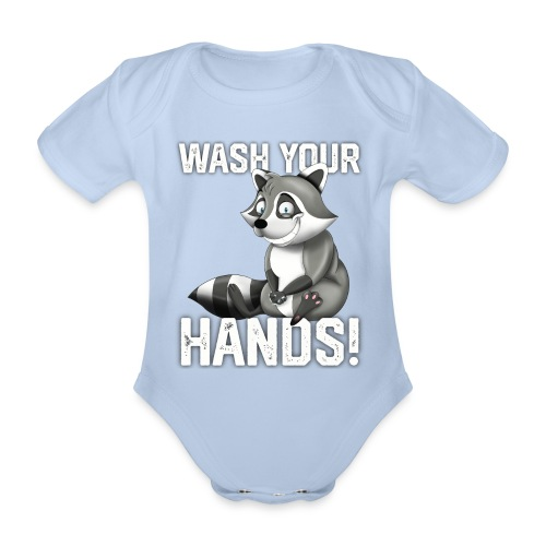 Wash Your Hands | Raccoon Lover | Wash Hand - Body ecologico per neonato a manica corta