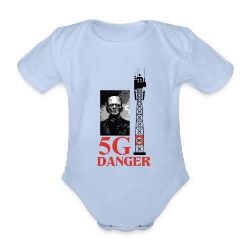 5 G DANGER - Organic Short-sleeved Baby Bodysuit