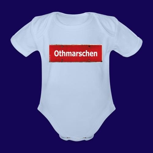 HAMBURG Othmarschen: Das rote Antik Ortsschild - Baby Bio-Kurzarm-Body
