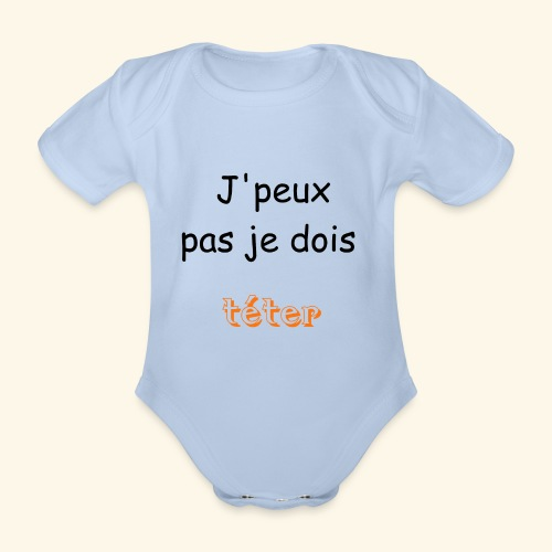 Collection teter - Body Bébé bio manches courtes