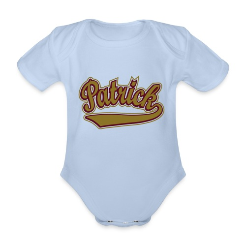 Patrick - T-shirt personalised with your name - Organic Short-sleeved Baby Bodysuit