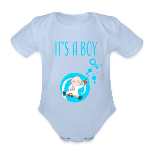 It's a Boy Auto. Witzige süße Umstandsmode T-Shirt - Baby Bio-Kurzarm-Body