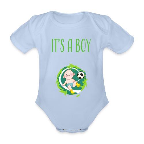 It's a Boy Fußball. Witzige Umstandsmode T-Shirt - Baby Bio-Kurzarm-Body