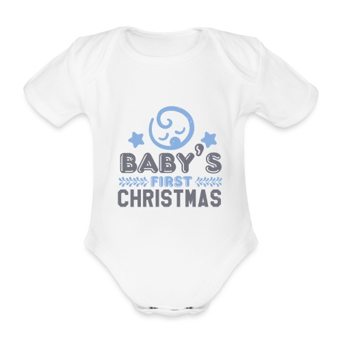 Baby`s First Christmas - Baby Bio-Kurzarm-Body