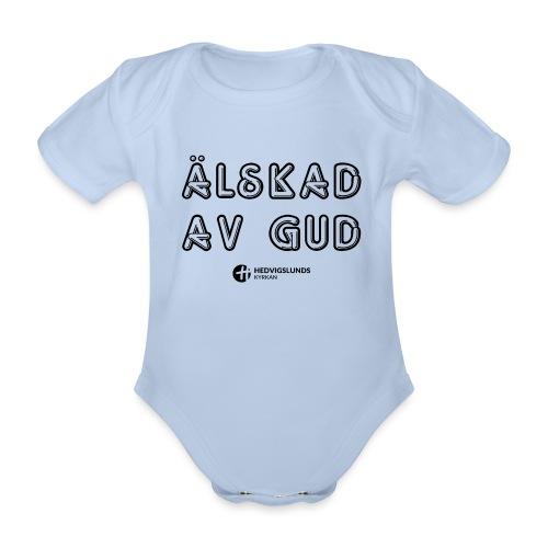 Älskad av Gud - Ekologisk kortärmad babybody