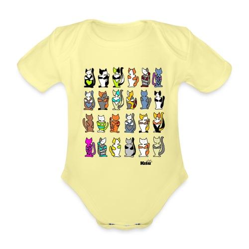 koko paita valkoiselle - Vauvan lyhythihainen luomu-body