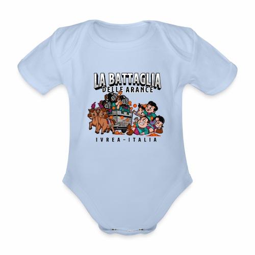 Baby aranceri - Body ecologico per neonato a manica corta