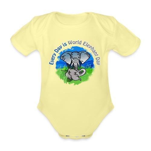 Every Day Is World Elephant Day - Baby Bio-Kurzarm-Body