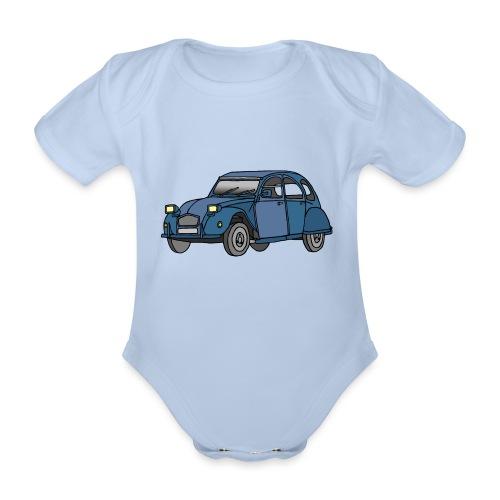 Blaue Ente 2CV - Baby Bio-Kurzarm-Body