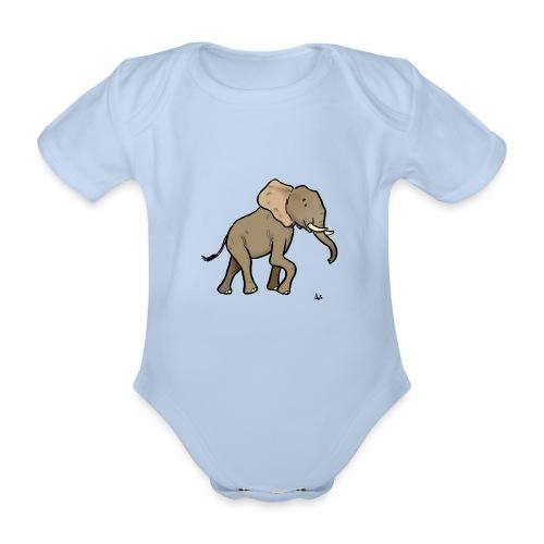 Éléphant d'Afrique - Body Bébé bio manches courtes