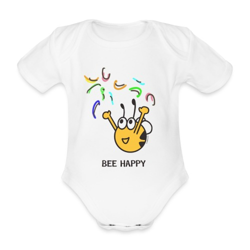BEE HAPPY - Baby Bio-Kurzarm-Body