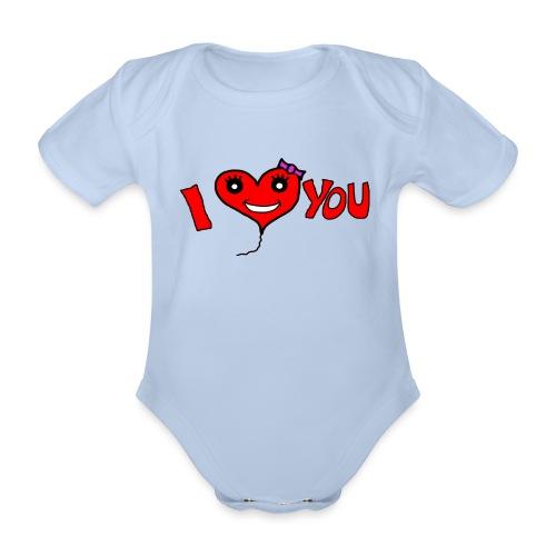ich liebe dich - Baby Bio-Kurzarm-Body