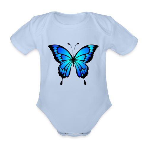 Mariposa - Body orgánico de manga corta para bebé