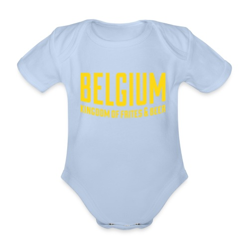 Belgium kingdom of frites & beer - Body Bébé bio manches courtes