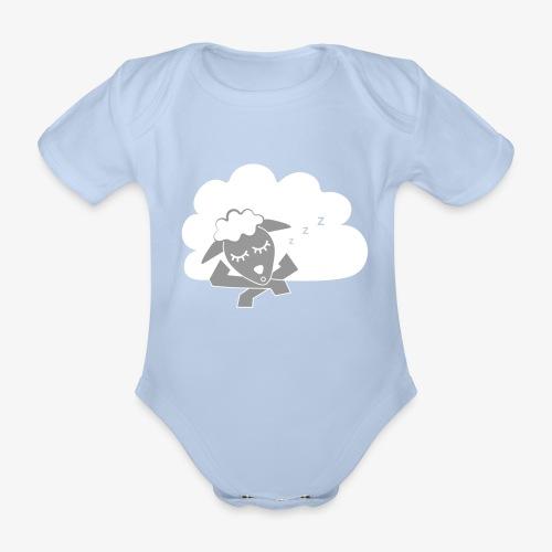 Sleeping Sheep - Organic Short-sleeved Baby Bodysuit