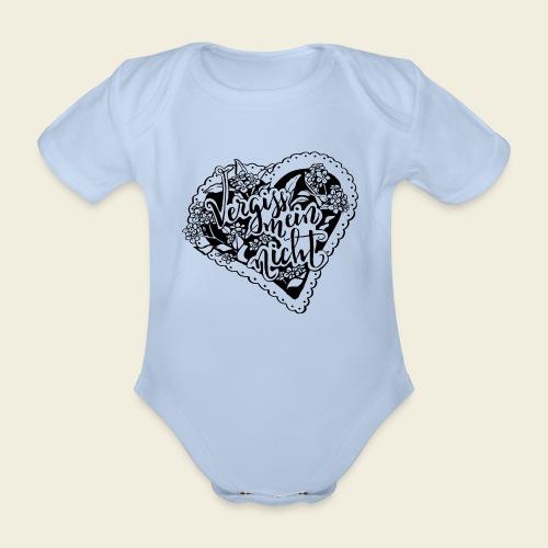 Vergissmeinnicht-Herz - Baby Bio-Kurzarm-Body
