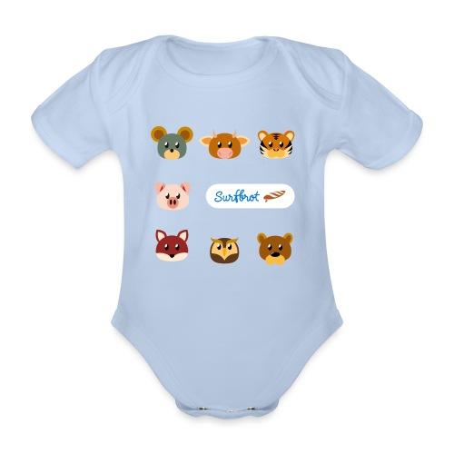 Surfbrot Serie 1 - Organic Short-sleeved Baby Bodysuit