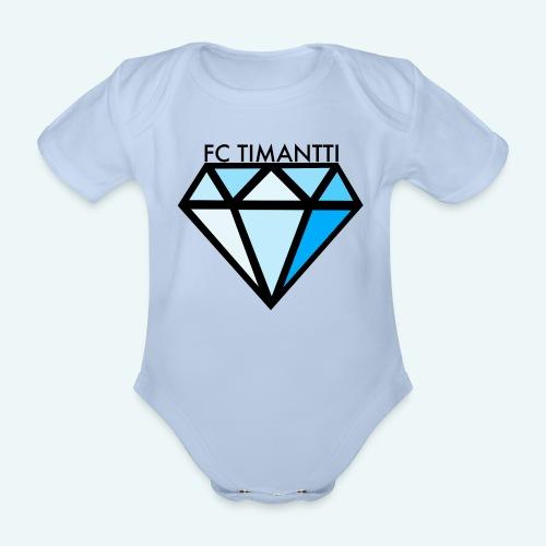 FC Timantti mustateksti - Vauvan lyhythihainen luomu-body