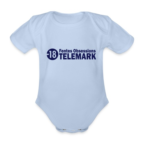 telemark fentes obsessions18 - Body Bébé bio manches courtes