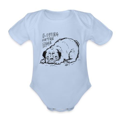 Living on the edge BLACK - Organic Short-sleeved Baby Bodysuit
