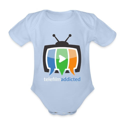 Logo Telefilm Addicted - Body ecologico per neonato a manica corta