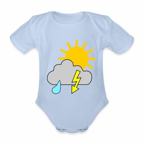 Sun - rain - thunderstorm - Organic Short-sleeved Baby Bodysuit