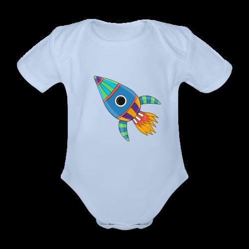 Bunte Rakete - Baby Bio-Kurzarm-Body
