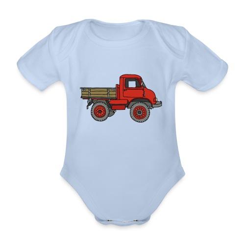Roter Lastwagen, LKW, Laster - Baby Bio-Kurzarm-Body