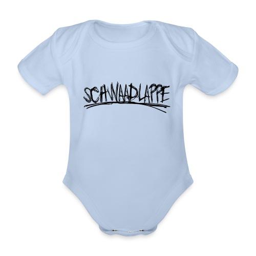 Schwaadlappe - Schwarz - Baby Bio-Kurzarm-Body