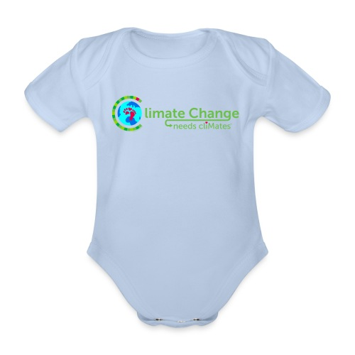 Climate Change needs cliMates - Organic Short-sleeved Baby Bodysuit