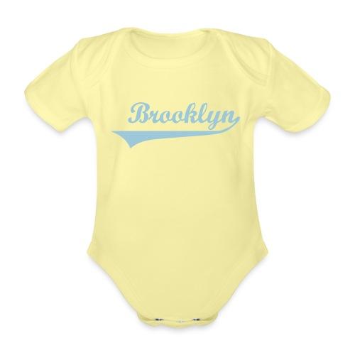 brooklyn babyshirt - Baby bio-rompertje met korte mouwen