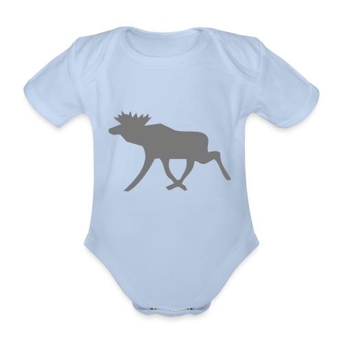 Schwedenelch; schwedisches Elch-Symbol (vektor) - Baby Bio-Kurzarm-Body