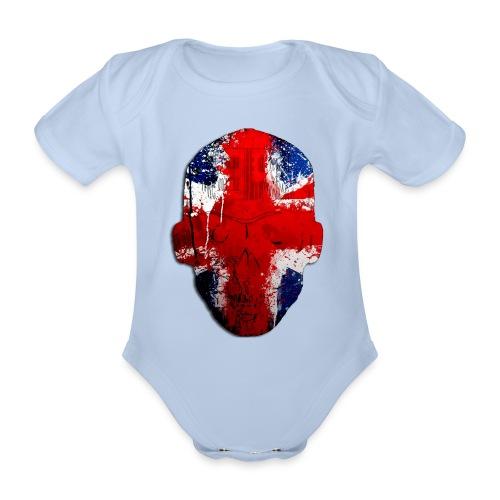 Borg Robot Cap - Organic Short-sleeved Baby Bodysuit