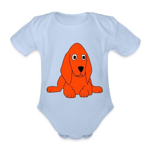 orange dog - Body ecologico per neonato a manica corta