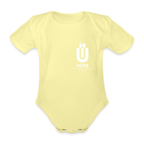 udi blanco vert png - Body orgánico de maga corta para bebé