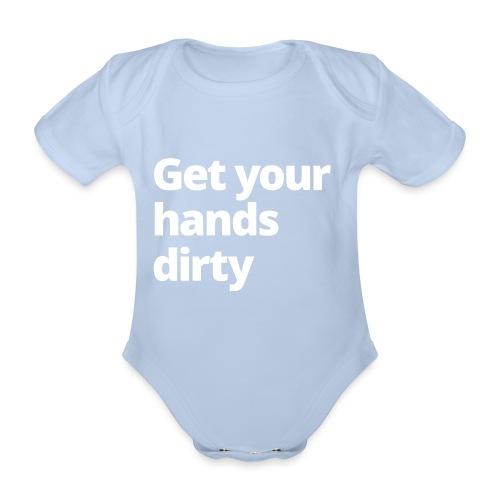 1 NETZ Get your hands dirty - Organic Short-sleeved Baby Bodysuit
