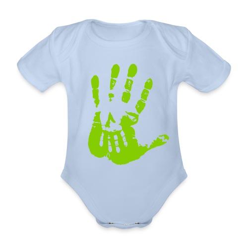 standalone-palm-black - Ekologisk kortärmad babybody