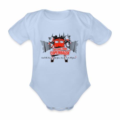 Greetings from CPH ver01 - Kortærmet babybody, økologisk bomuld