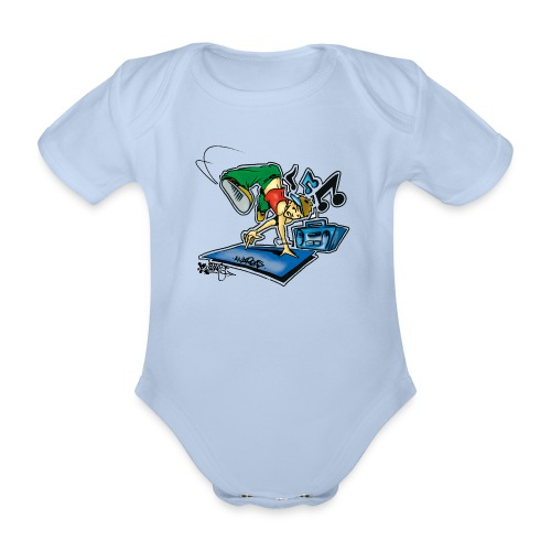 Breakdancer Handstand - Kortærmet babybody, økologisk bomuld
