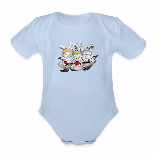 Dont ! Tim Timmey - Kortærmet babybody, økologisk bomuld