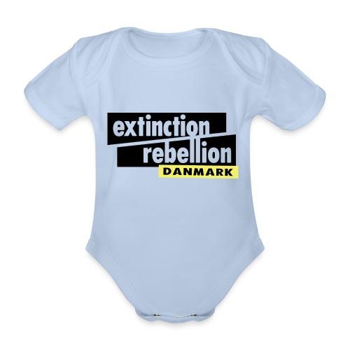 Extinction Rebellion Danmark SORT logo - Kortærmet babybody, økologisk bomuld