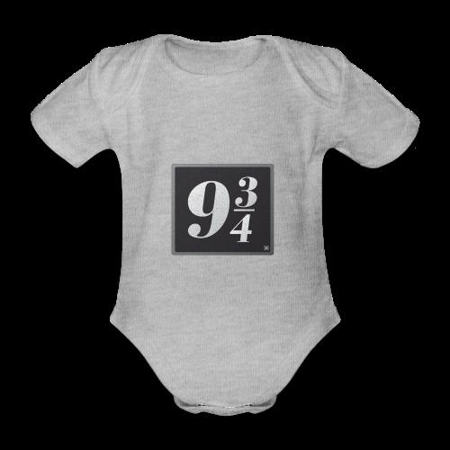 Andén nueve y tres cuartos - Body orgánico de maga corta para bebé