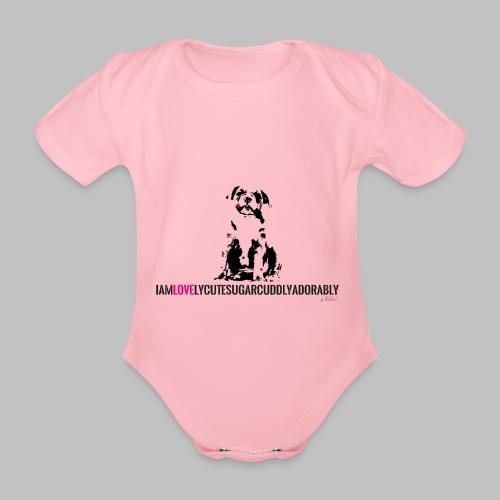 FRANZÖSISCHE BULLDOGE - WELPEN - LOVE - Baby Bio-Kurzarm-Body